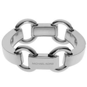MICHAEL KORS Silver Tone Bit-Link Bracelet